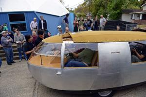 Blast from the past: Taking a ride in Bucky Fuller's Dymaxion car