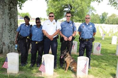 Mounds Police Officer Kyle Womack (second from right)