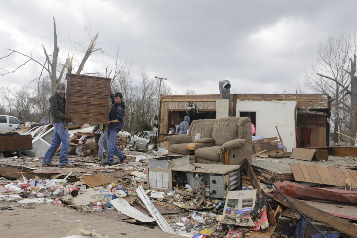 Elkville tornado damage