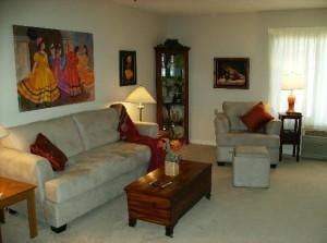 Living room in The Estates
