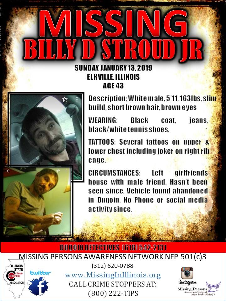 Billy Stroud missing poster