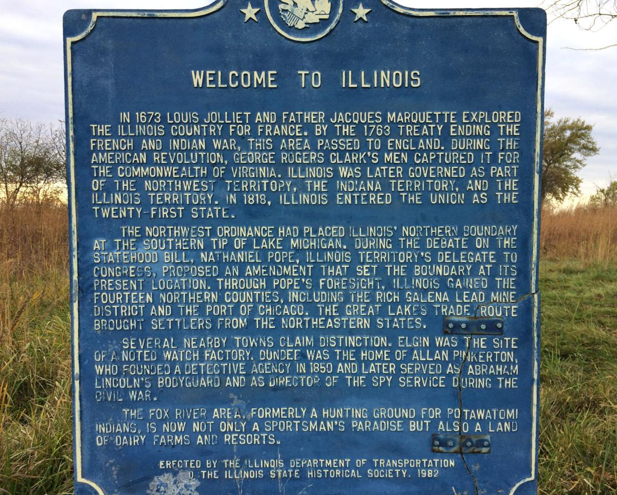 Border War - historic sign