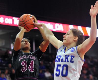 MVC Women's basketball tournament. Southern Illinois vs Drake.