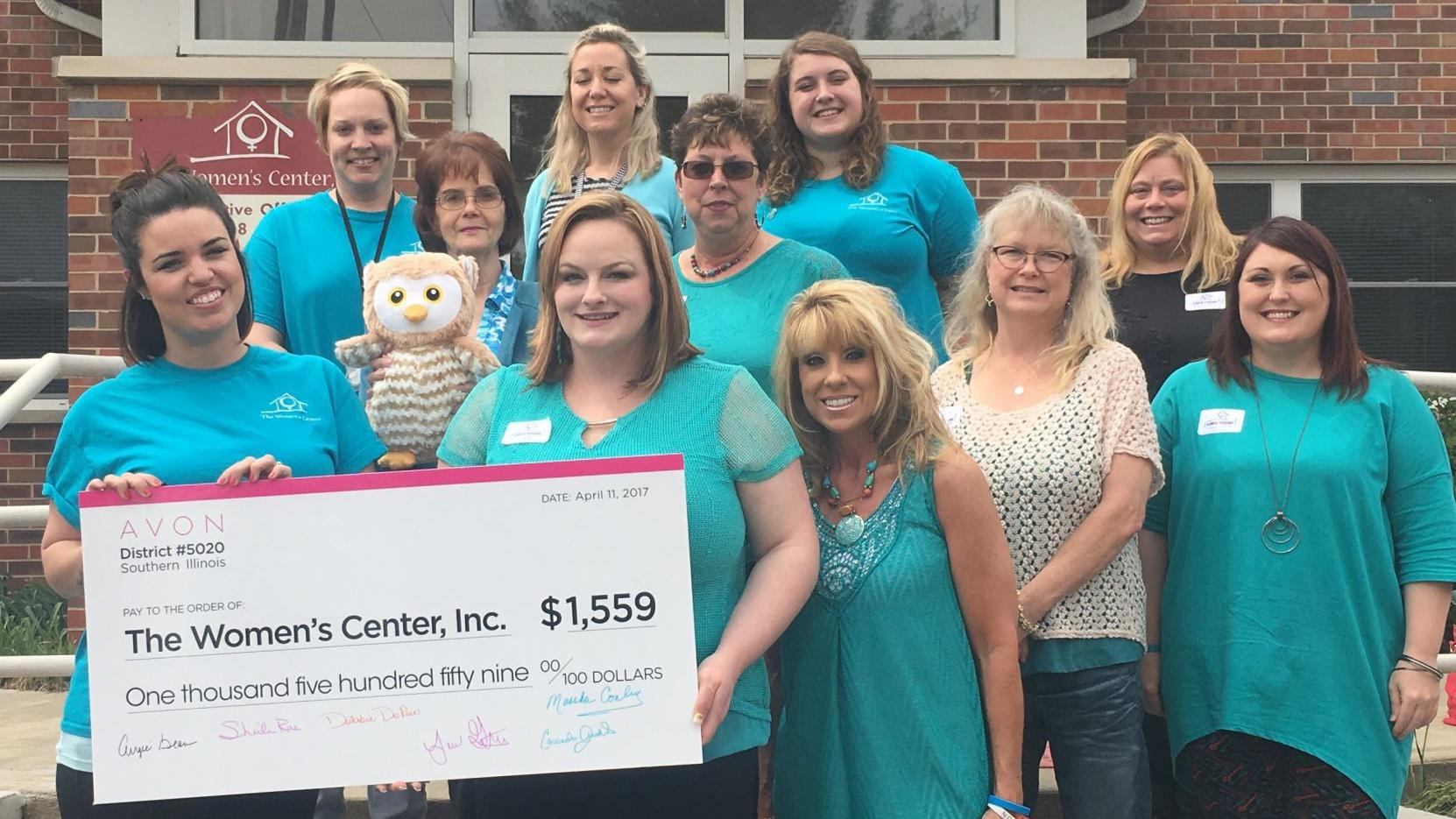 Local Avon representatives partner to raise funds for The Women's Center