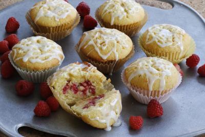 Lemon Raspberry Pound Cake Muffins