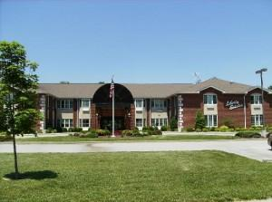 Front view of Liberty Village of Carbondale