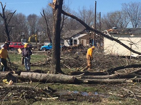 Elkville tornado disaster relief work