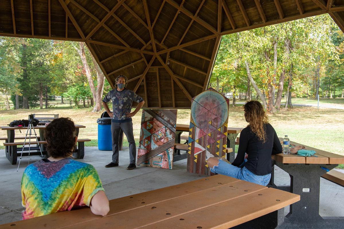 Art installation in Bucky's Haven