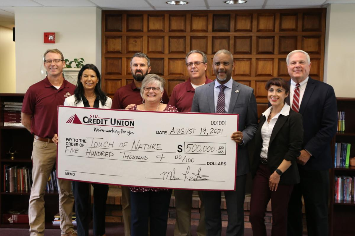 SIU Credit Union check to Touch of Nature