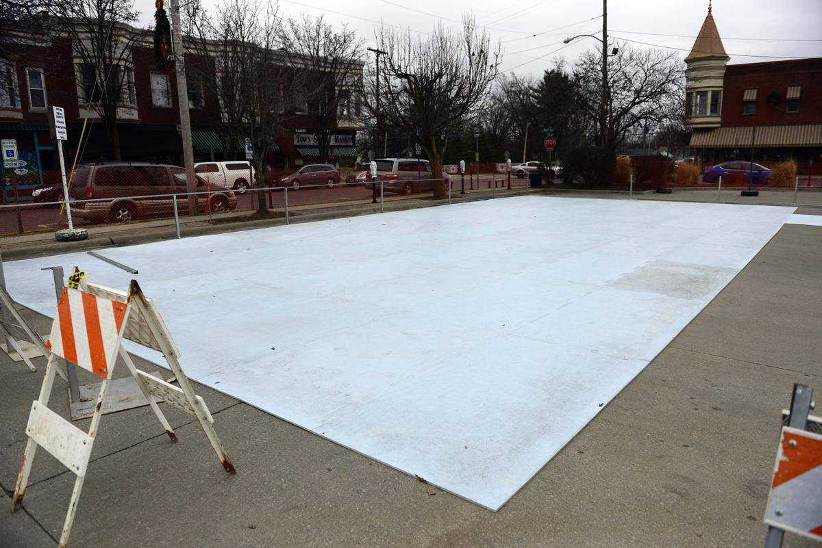 temporary skating rink opening in downtown carbondale carbondale