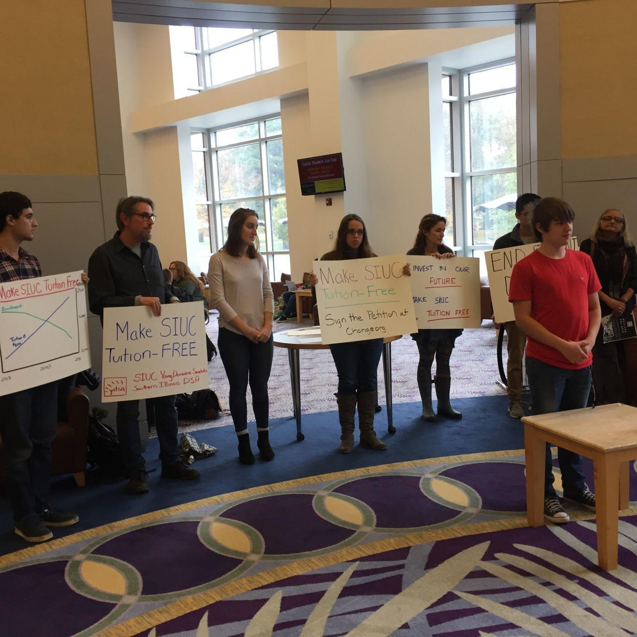 Activists call for tuition-free SIUC as enrollment, cost of