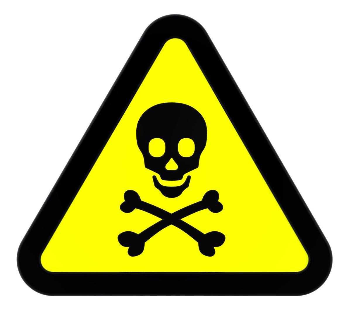 Poison hazard sign