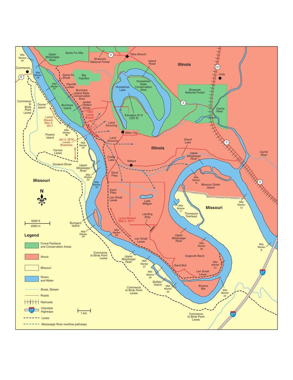 Map of Dogtooth Bend Peninsula