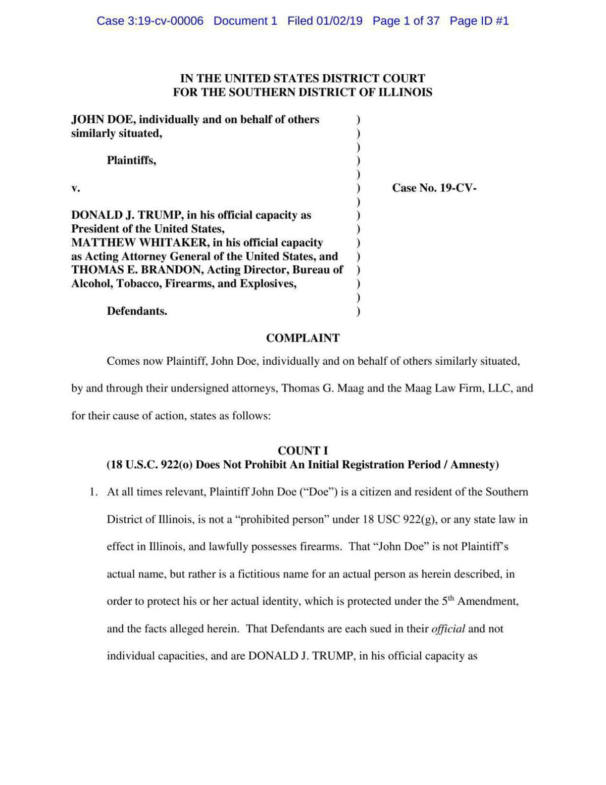 Bump stock ban lawsuit