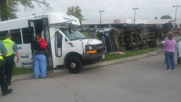 Day care bus accident injures several children and two