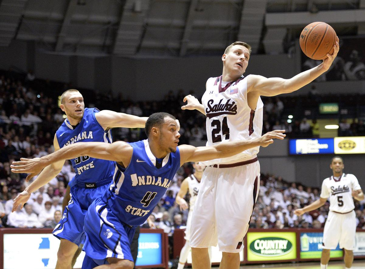 Stradnieks auditioning for Salukis' backup center role