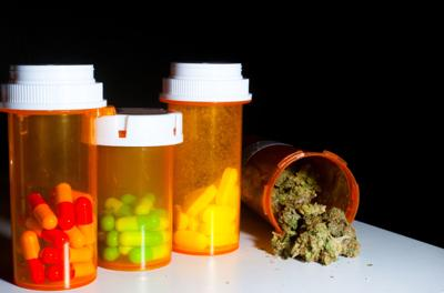 Medical marijuana and pills