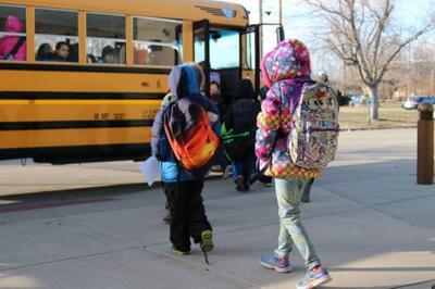 Bundled-up bus riders