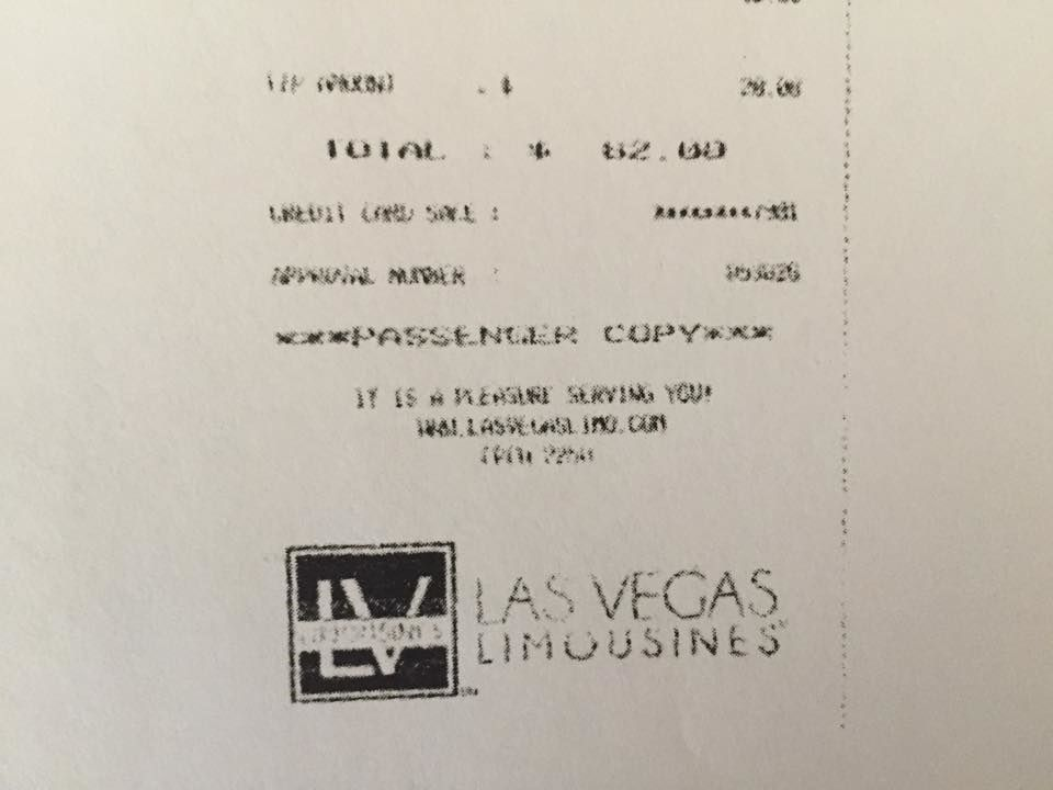 Las Vegas Limousines: $82