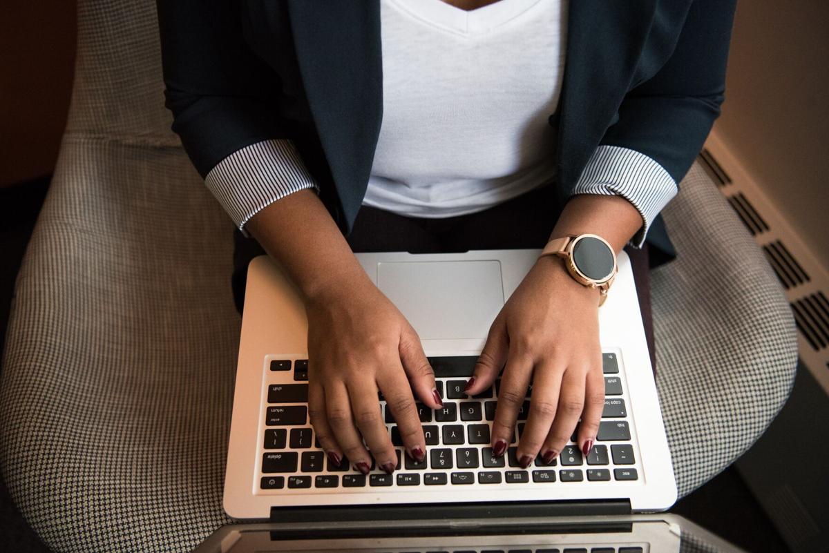 Woman at laptop