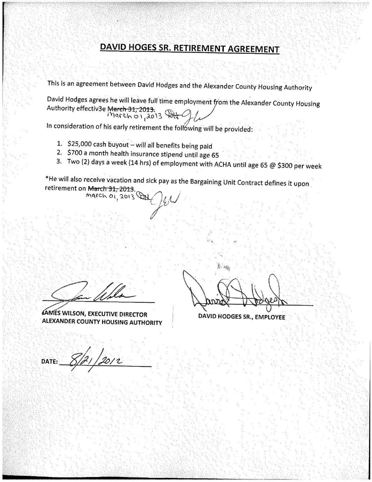 David Hodges Retirement Contract Thesouthern