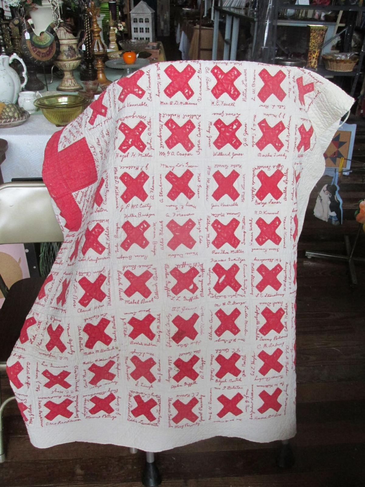 Red Cross Quilt comes home to Cobden