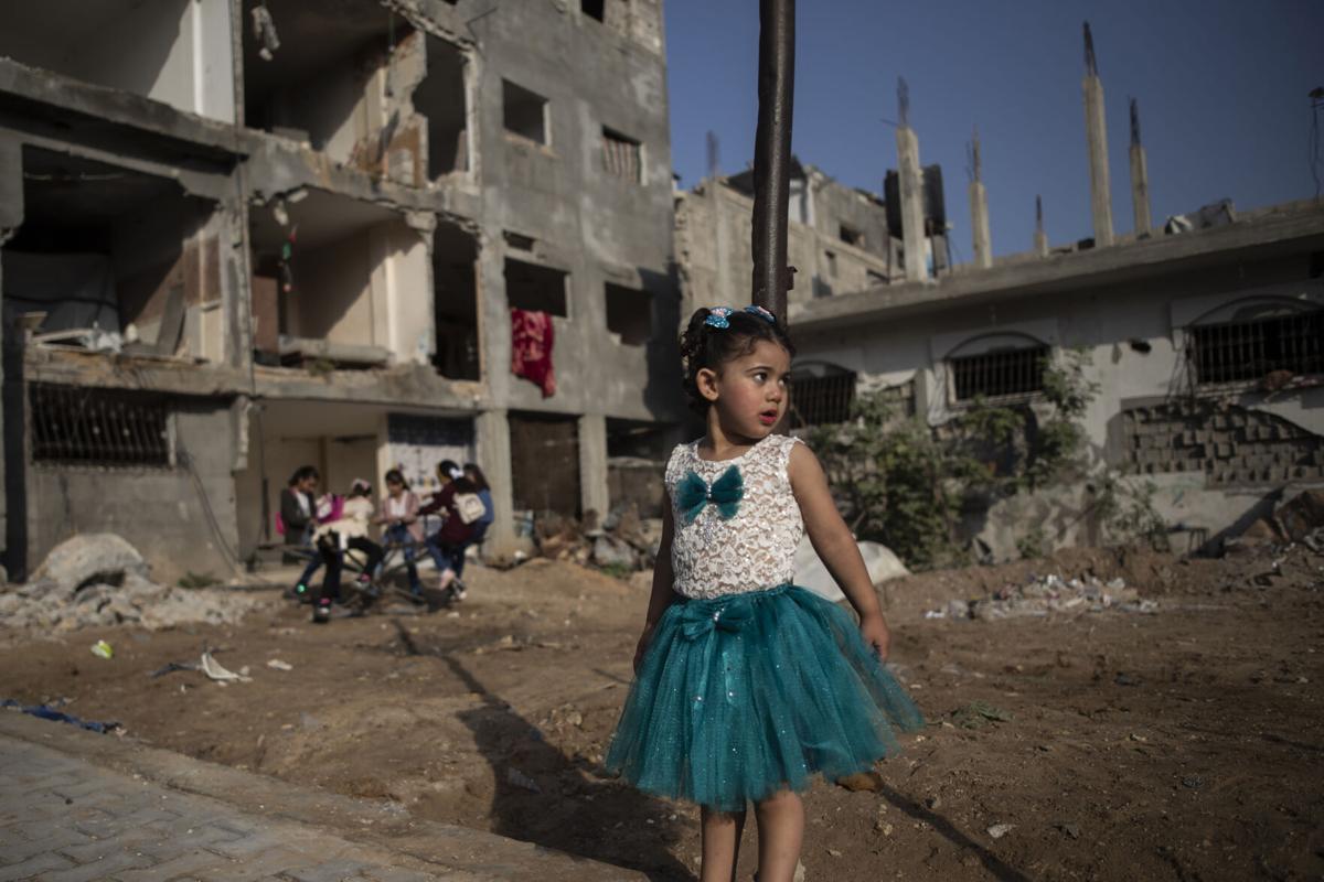 APTOPIX Palestinians Eid al Adha
