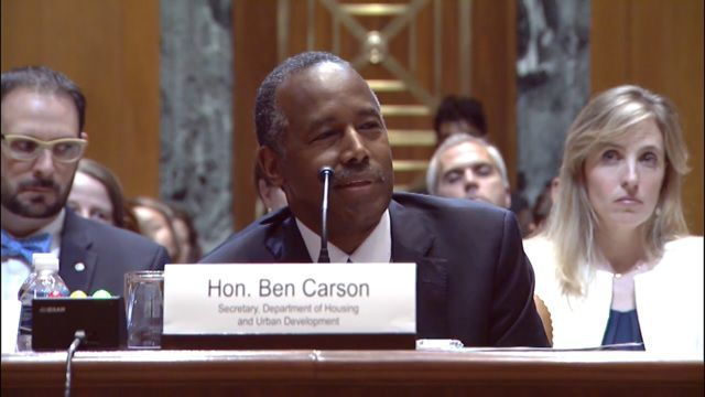 HUD Secretary Carson addresses housing crisis in Cairo