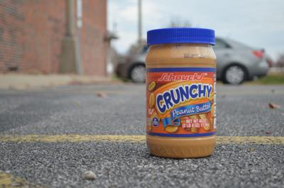 Peanut butter in a parking lot