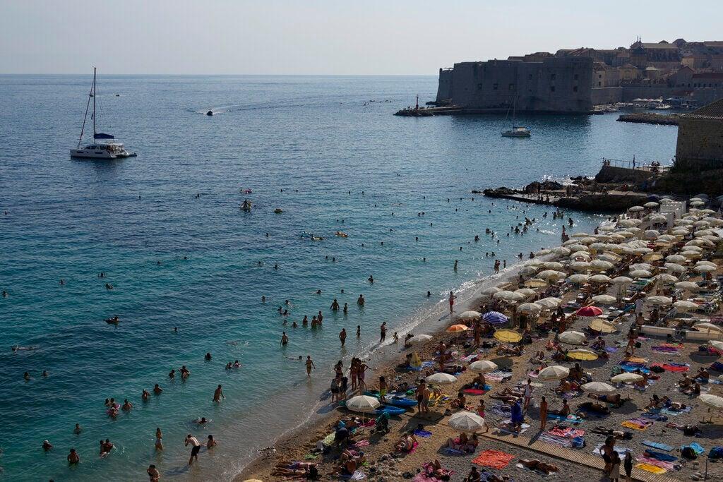 Virus Outbreak Croatia Tourism