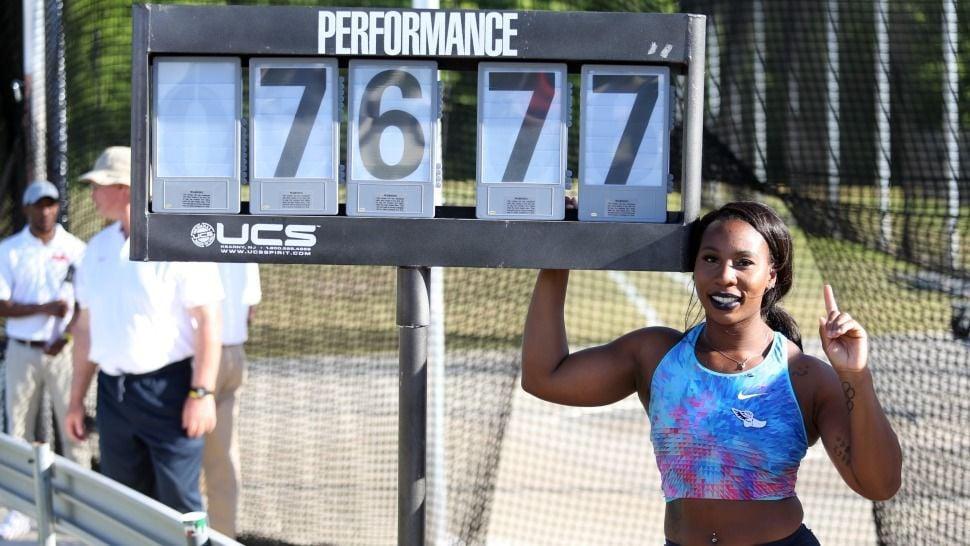 No. 3 - Gwen Berry breaks American hammer throw record
