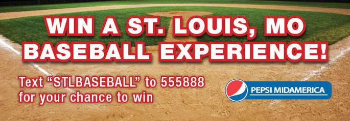WIN a St. Louis, MO Baseball Experience! - Please turn images on
