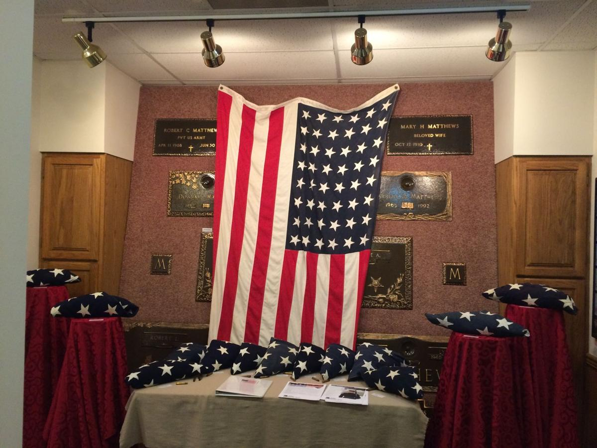 Crain Funeral Home exhibits 48-star American flag