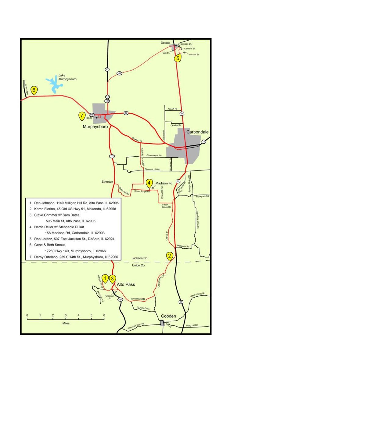 Map The Southern Illinois Pottery Trail Thesouthern Com