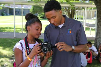 Eyaan Mahone volunteering for Meet and Teach