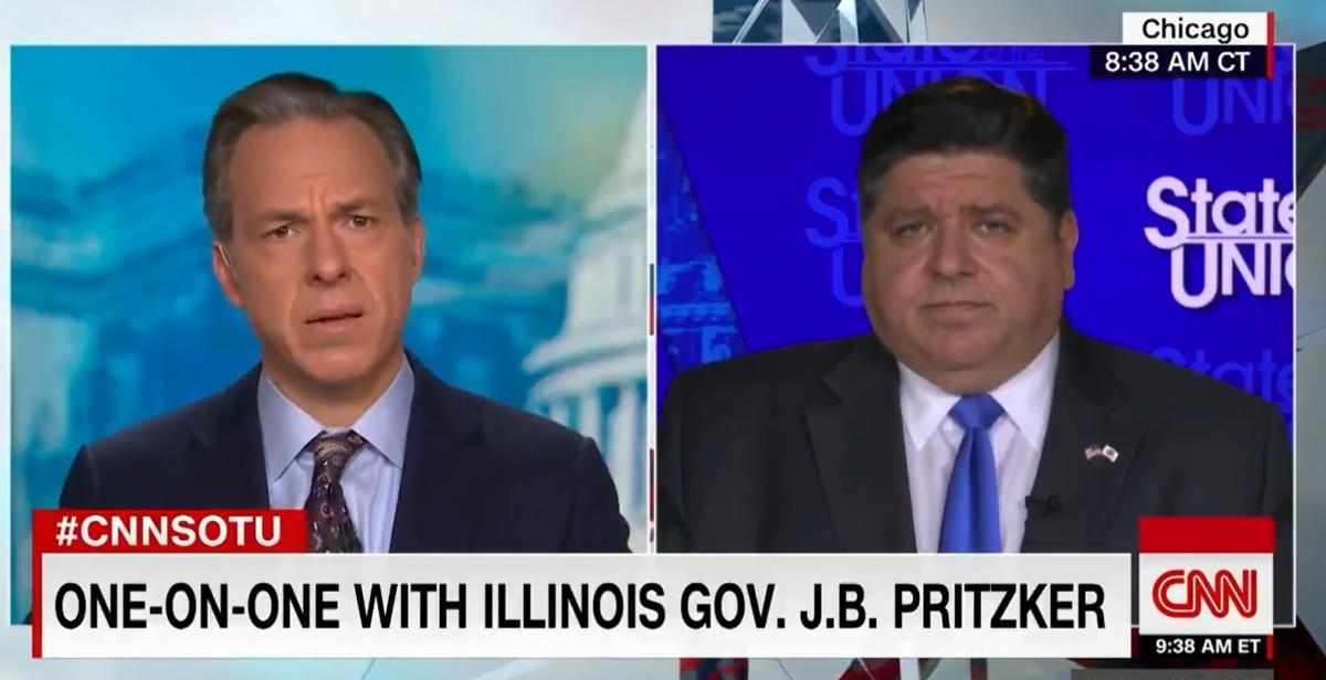 Jake Tapper and Pritzker