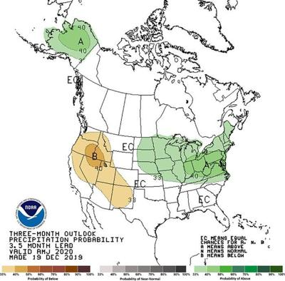 3-month precipitation outlook graph