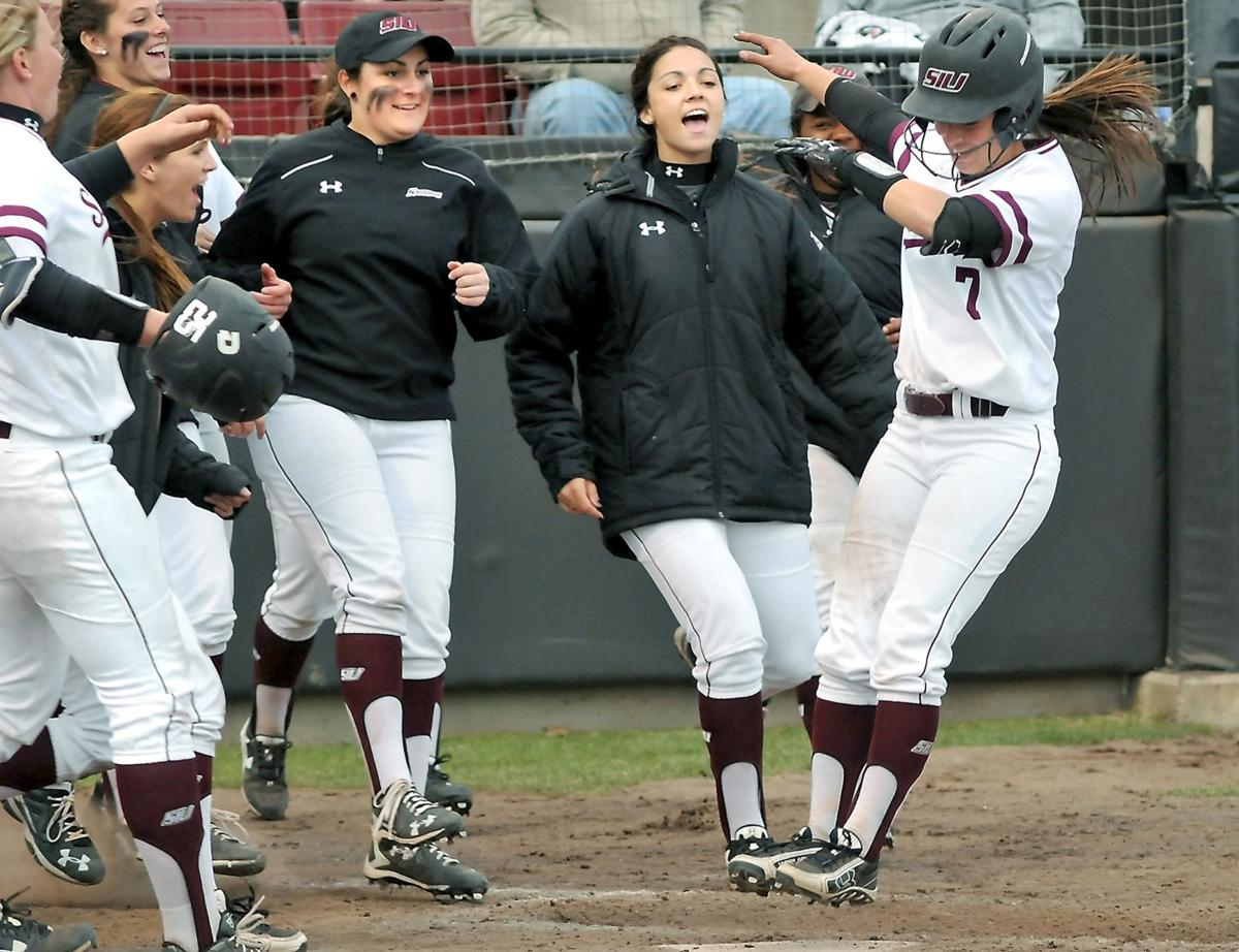 Saluki Softball Home Run