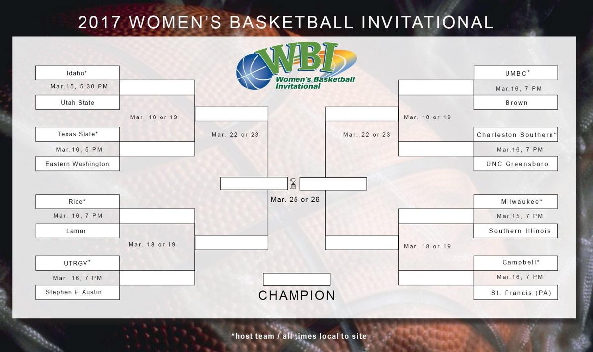 2017 Women's Basketball Invitational Bracket