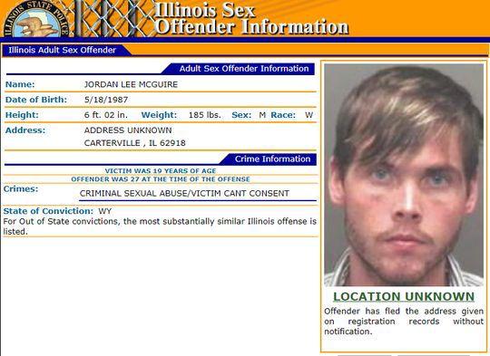 Jordan McGuire sex offender registry