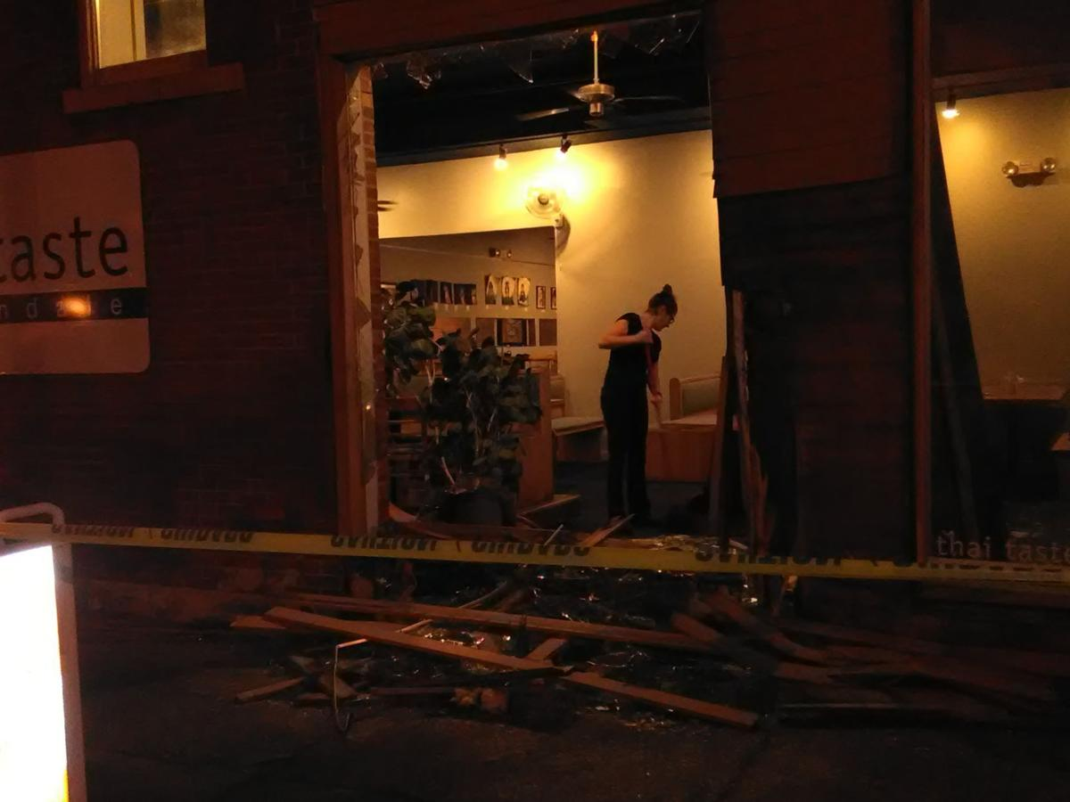 Thai Taste restaurant damaged by vehicle crash