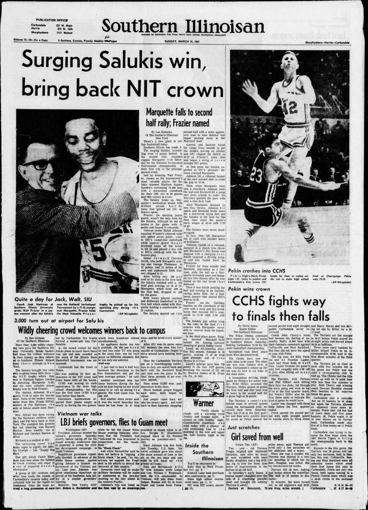 March 19, 1967 - SIU Basketball NIT