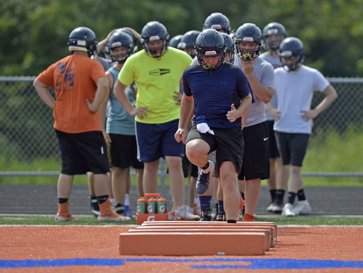 Carterville first day of high school football practice