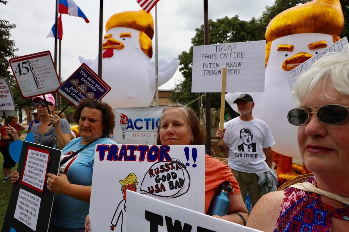 Trump visit President Trump touts tariffs at