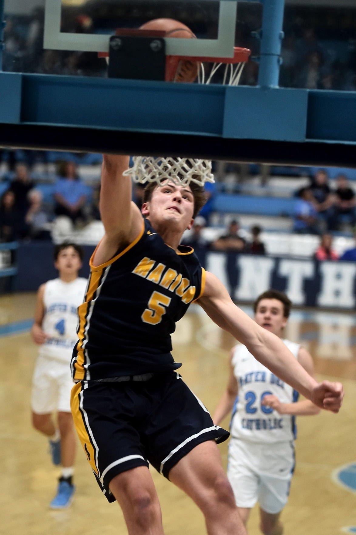 Boys Prep Basketetball: Marion defeats Mater Dei