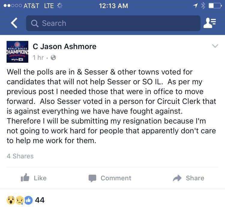Ashmore Facebook Post