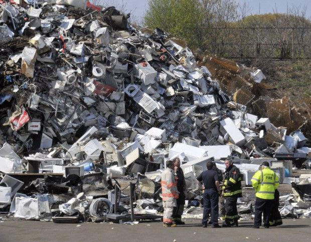 Attleboro Firefighters Respond To Small Fire At Scrap Yard - Schnitzer scrap metal