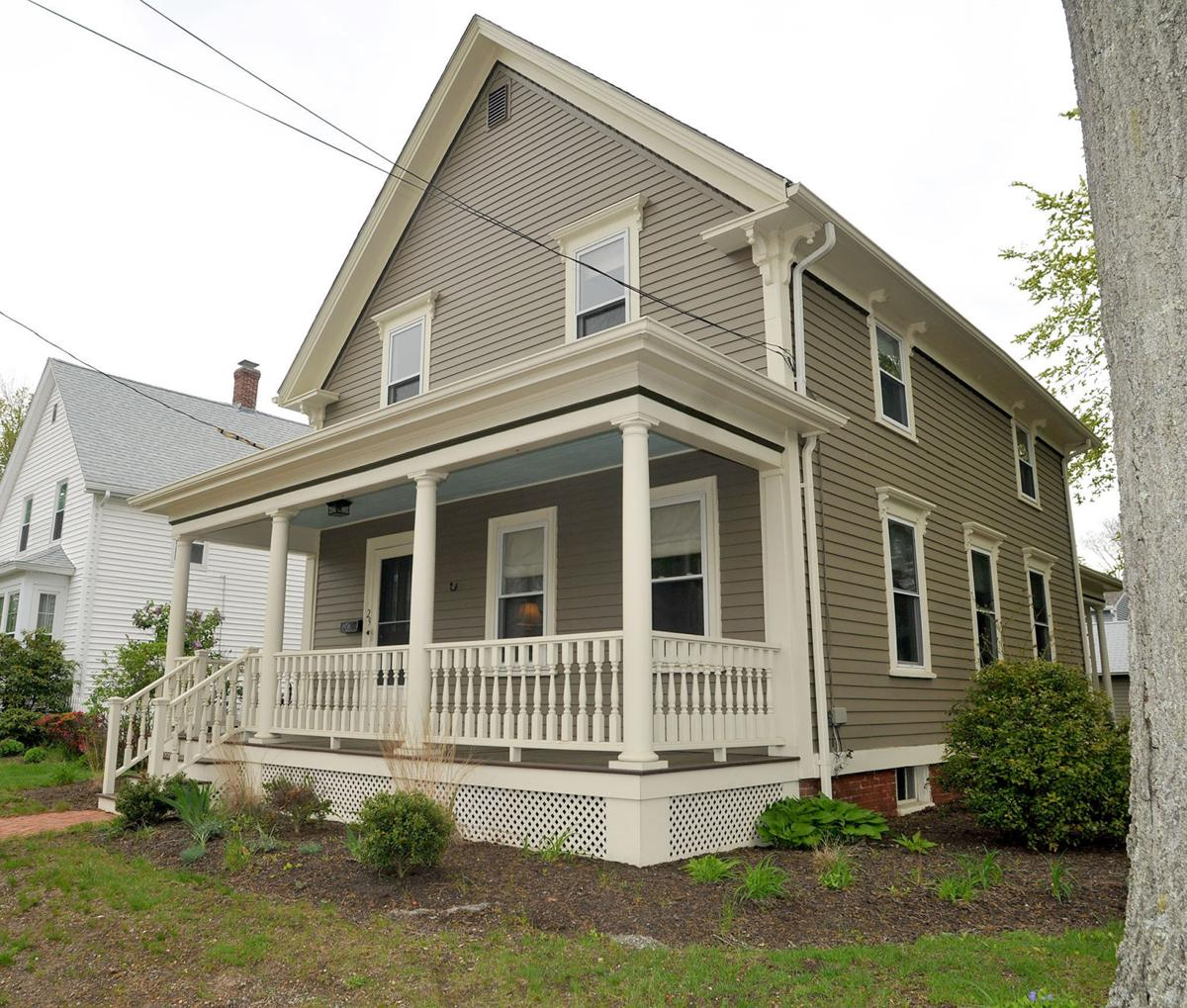 couple s queen anne style cottage a highlight of attleboro house attleboro home tour buy now the queen anne style