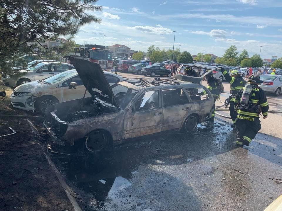 wrentham car fire