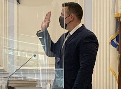 Trooper Michael Atton takes oath
